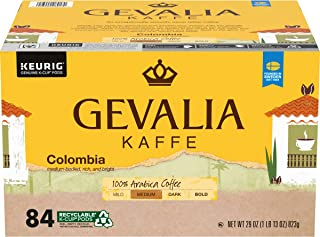 Gevalia Colombia Blend Medium Roast K-Cup Coffee Pods (84 Pods)