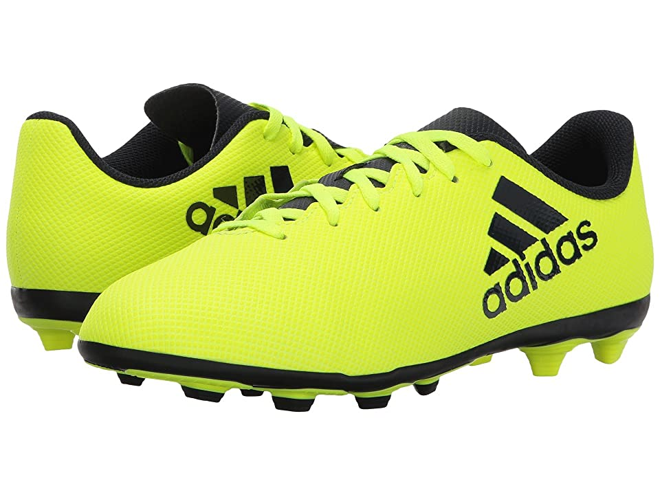 adidas Kids X 17.4 FxG J Soccer (Little Kid/Big Kid) (Solar Yellow/Legend Ink) Kids Shoes