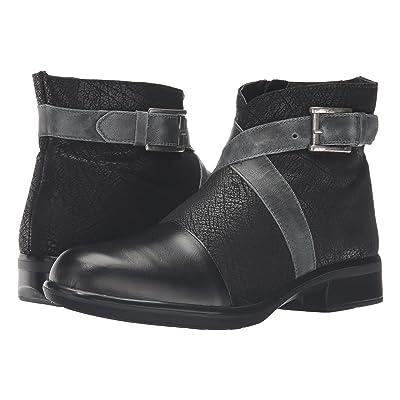 Naot Boreas (Black Madras Leather/Black Crackle Leather/Vintage Smoke Leather) Women
