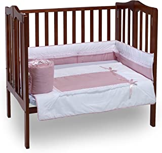 Baby Doll Bedding Royal Mini Crib/Port-a-Crib Bedding Set, Pink