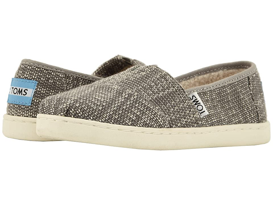 TOMS Kids Alpargata (Little Kid/Big Kid) (Shade Oblique Woven/Faux Shearling) Kid