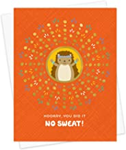 product image for Night Owl Paper Goods Hooray Hedgehog Gold Foil Embellished Congratulations Card