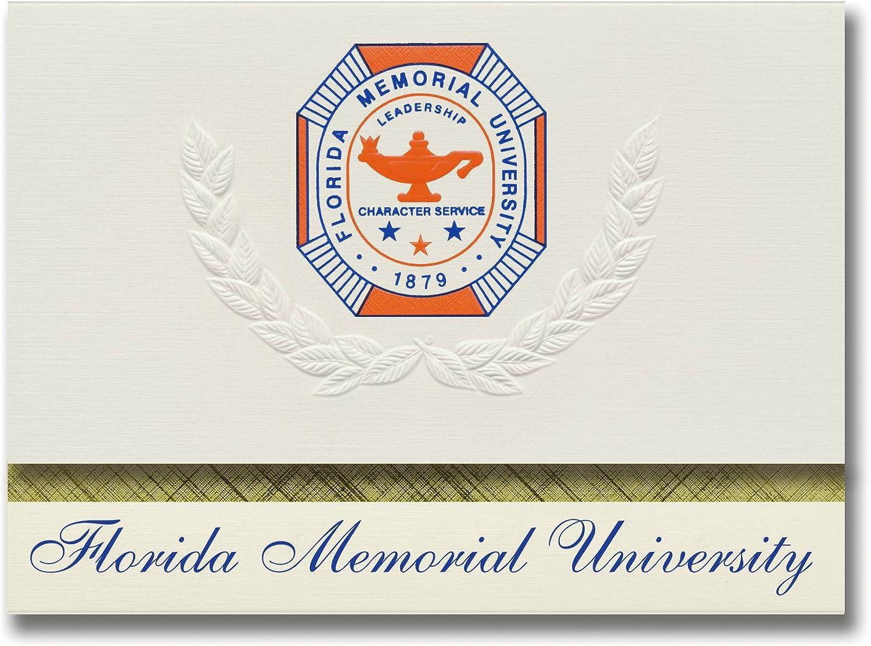 Signature Ankündigungen Florida Memorial Universität Graduation Ankündigungen, platin Stil, Elite Pack 20 mit Florida Memorial u. Dichtung Folie B0793NBKZ9    | Einzigartig