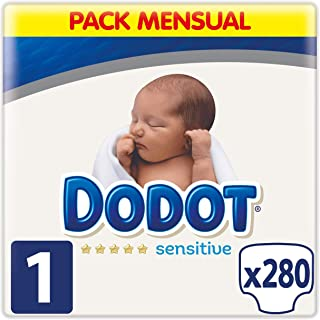 Dodot Sensitive Pañales Talla 1, 280 Pañales, 2-5 kg