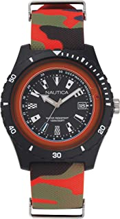 Nautica Men's Surfside' Quartz Resin And Silicone Casual Watch Color: