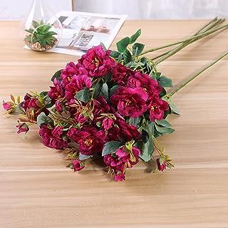 Fake Flowers, Anself 7 Pcs/Set Artificial Flowers Festival Artificial Branches Natural Artificial Foliage Plants Leaves Fl...