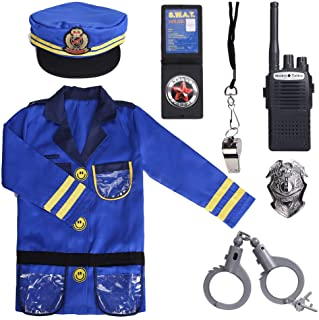 Sepco Police Officer Costume for Kids Role Play Kit with Cop Dress Up Costume Accessories, Ages 3-6 yrs