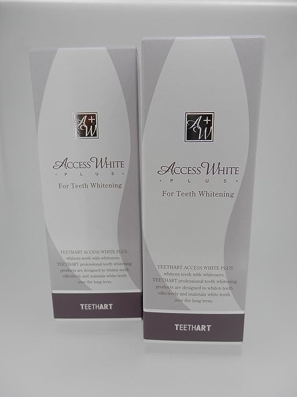 TEETHART(ティースアート) アクセスホワイトプラス ローズミントハーブタイプ 2本セット