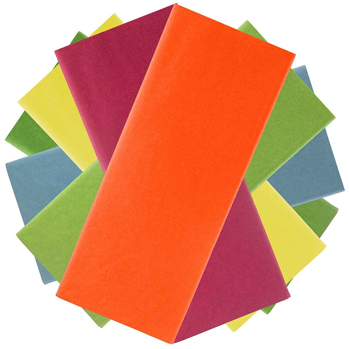 JAM PAPER Assorted Gift Wrapping Tissue Paper Set - Bright Vibrant Colors - 6 Packs/Set (48 Sheets Total)