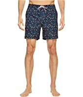 Original Penguin - Confetti Palm Tree Fixed Volley Swim Trunk