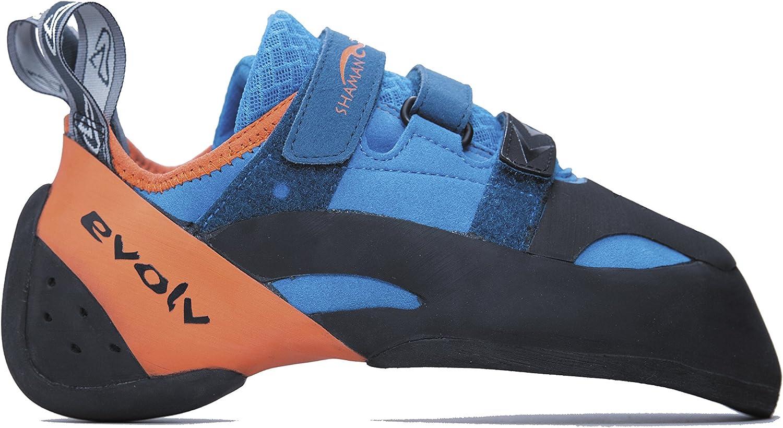 Evolv Sports Men Limited time sale s OFFicial mail order Shaman Shoe Climbing 4 ORANGE BLUE