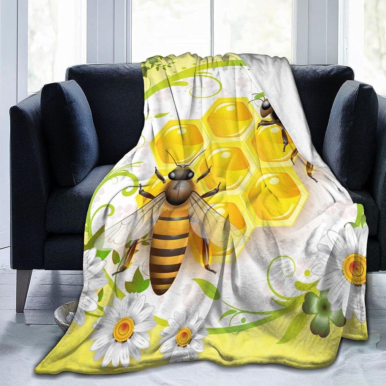 IDNUYIA Honey Bee Throw Micro Blanket Rapid rise Ultra-Soft 2021new shipping free Fleece