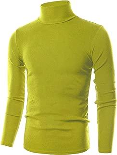 Mens Slim Fit Soft Cotton Pullover Lightweightweight Turtleneck