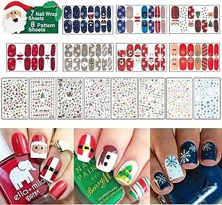 christmas gel nails snowflakes