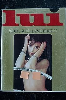 LUI 131 1974 DECEMBRE COVER JANE BIRKIN ENTIEREMENT NUE TOTALY NUDE SERGE GAINSBOURG JEAN GABIN