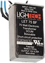 LighTech LET-75-BF Electrical Transformer, 12V 75W Electronic Dimmable - Bottom Feed