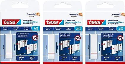 Tesa plakstrips voor het bevestigen op tegels en metaal, houdvermogen