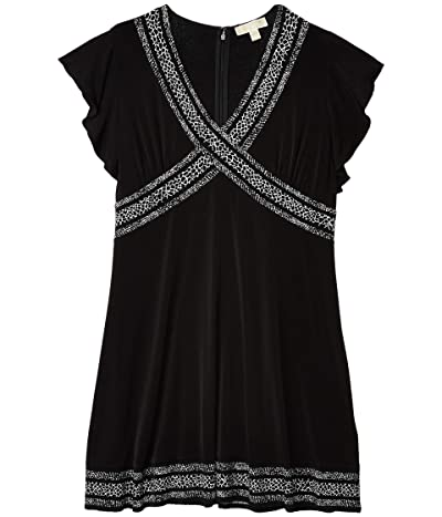 MICHAEL Michael Kors Plus Size Snake Mini Dress (Black) Women