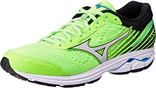 Mizuno Australia Men's Wave Rider 22 Running Shoes, Green Gecko/Silver/Brilliant Blue, 12 US