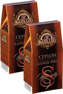 Basilur, Specialty Classics Collection, Single Origin, 100% Pure Ceylon, Ceylon Orange Pekoe, 100g Loose Leaf Box (Pack of 2)