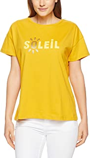 French Connection Women's Soleil TEE, Sand Yellow