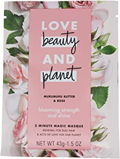 Love Beauty and Planet 2 Minute Magic Masque for Unisex, Murumuru Butter and Rose, 1.5 Ounce