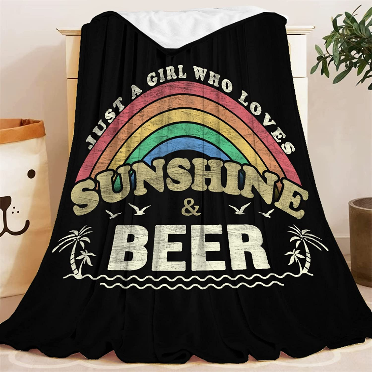 Blanket Max 40% OFF OFFicial mail order Just A Girl Who Lvoes Sunshine Thro and Lightweight Bear
