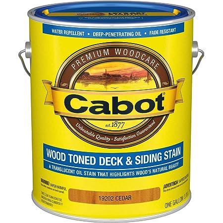 Cabot 140.0019202.007 Wood Toned Deck & Siding Low VOC Exterior Stain, Gallon, Cedar