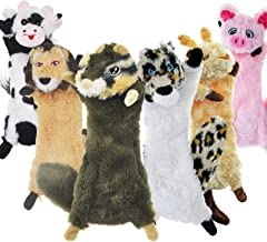 SHARLOVY اسباب بازی های جیر جیر سگ بدون پر کردن ، 6 اسباب بازی بسته بندی شده برای سگ ها اسباب بازی های مخصوص سگ های کوچک را برای سگ های کوچک سگ های بادوام جویدند اسباب بازی های مخمل خواب دار مخمل خواب دار زیبا اسباب بازی توله سگ طبیعی برای توله سگ