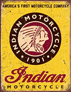 Desperate Enterprises Indian Motorcycle Since 1901 Tin Sign, 12.5