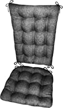Rocking Chair Cushion Set - Hayden Pewter Grey - Size Extra-Large - Reversible, Latex Foam Filled Seat Pad and Back Rest (Solid Color Gray, Presidential)