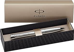 Parker Urban Chrome Trim Ballpoint Pen with Medium Nib - Metallic, Gift Boxed