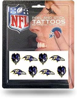 Rico Industries NFL Baltimore Ravens Face Tattoos, 8-Piece Set
