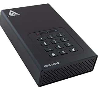 Apricorn Aegis hangslot 3TB desktop FIPS 256-bits hardware gecodeerde USB 3 harde schijf (ADT-3PL256F-3000EMEA)