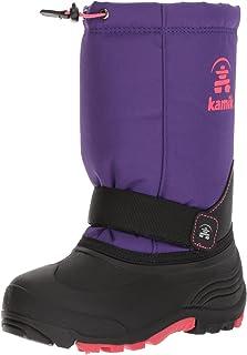 Kamik Girls' Rocket Snow Boot, Purple/Rose, 8 Medium US Toddler