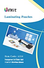"Hot Thermal Laminating Pouches 5Mil - 11.5x17.5 Inches for Sealed 11x17"" Photo - 50 Sheets 11.5x17.5 inches Pack, Uinkit 24 Hours Service, 3 Years Warranty"