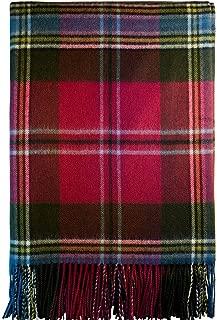 iLuv Luxury Lambswool Modern Soft Blanket Maclean of Duart Weathered Tartan
