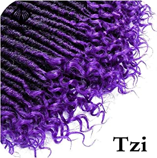 Goddess Faux Locs 16 20Inch Crochet Braids Soft Natural Soft Synthetic Hair Extension 24Strands 1Pc,Tzi,20 Inch,3Pcs