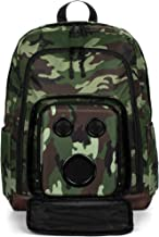 Bluetooth Speaker Backpack with 20-Watt Speakers & Subwoofer for Parties/Festivals/Beach/School. Rechargeable, Works with iPhone & Android (Camo, 2020 Premium Edition)