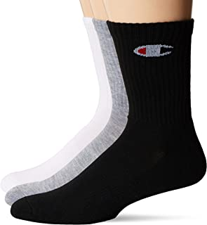 Men's 6-Pack Double Dry Moisture Wicking Logo Crew Socks