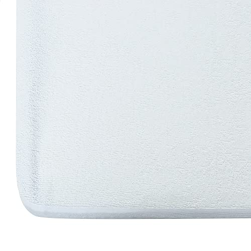 Uppercut Terry Cotton Waterproof and Dustproof Mattress Protector (72x78inch, White)