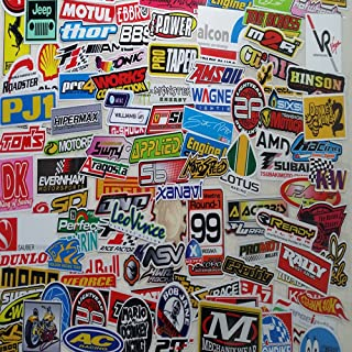 152pcs Racing Decal Sticker for Cars Bumper Full Color Japanese JDM Stickers Sedan Hatchback Cabrio Sports Snow Trailer Sticker Street Racing