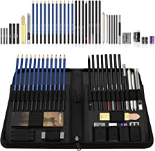 Flowood 40 Piece Professional Art Kit Drawing and Sketching Pencil Set with Eraser,Pastels,Graphite and Charcoal Sticks Ar...