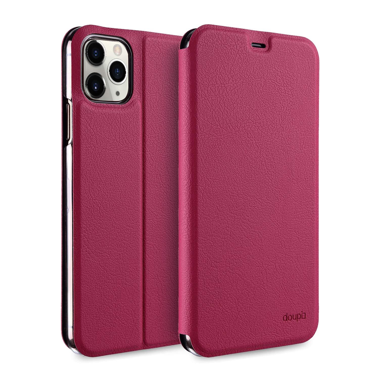 doupi Deluxe FlipCover para iPhone 11 Pro (5,8 Pulgada) Carcasa Case magnético Funda Caso tirón Estilo Libro Protector de Cuero Artificial, Rojo: Amazon.es: Electrónica