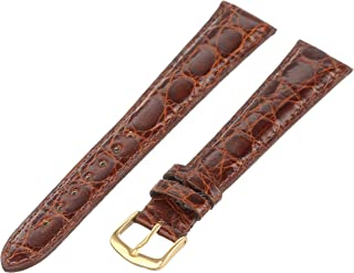 Hadley-Roma Men`s 20mm Leather Watch Strap, Color:Brown (Model: MS2001LAC200)