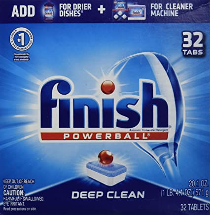 Finish All In 1 Powerball, Fresh 32 Tabs, Dishwasher Detergent Tablets 1 LB,4.8 oz