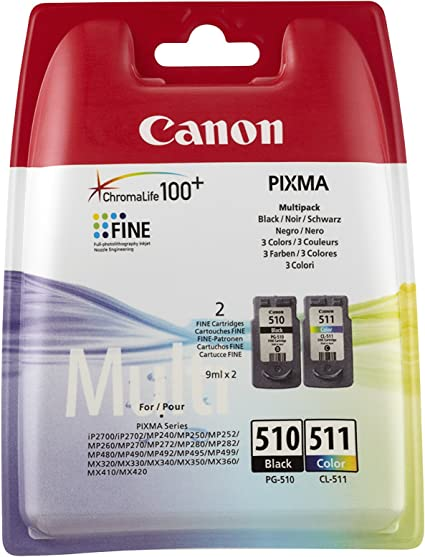Canon 2970b010aa Original Tinten Multipack Schwarz Und Mehrfarbig Für Pixma Inkjet Drucker Bürobedarf Schreibwaren