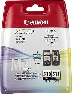 Canon PG-510/CL-511 Cartouche Multipack Noire + Couleur  (Multipack plastique)