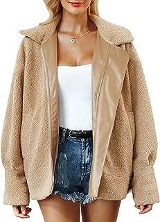 BerryGo Women's Faux Fur Lapel Coat Warm Oversized Outwear Jacket with Long Sleeve
