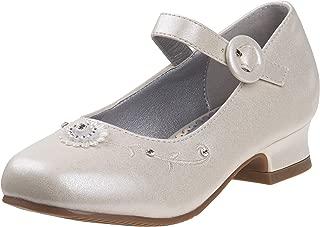 Josmo Girls Dressy Patent Low Heel Shoe with Decrotive Flower (Toddler/Little Kid/Big Kid)